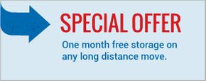 Special Offer - One month free storage on any long distance move.